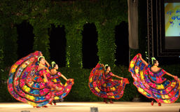 Colorful Mexican female dancers Royalty Free Stock Image