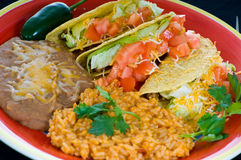Colorful Mexican Food Plate Royalty Free Stock Images