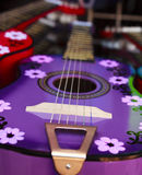 Colorful Mexican Guitar. A colorful handcrafted Mexican acoustic guitar Royalty Free Stock Image