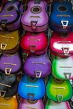 Colorful Mexican Guitars. Many colorful Guitars  orgin from mexico.  The sound of  mexican hat dances ring out in solid tune, or a spainish tango being strummed Royalty Free Stock Photography