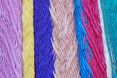 Colorful Mexican hammock weave closeup Royalty Free Stock Image