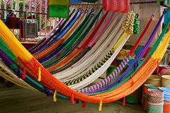 Colorful Mexican Hammocks. Colorful hammocks at rural mexican market Stock Photography