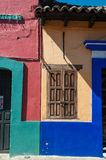 Colorful Mexican houses against. Blue sky Stock Photography