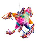 Mexican pinata used in posadas and birthdays. Colorful mexican pinata used in birthdays and posadas isolated on white Stock Photo