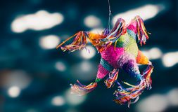 Mexican pinata used in posadas and birthdays. Colorful mexican pinata used in birthdays and posadas Royalty Free Stock Photography