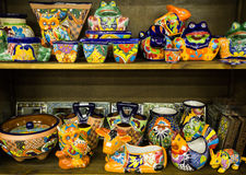 Colorful mexican pottery Stock Images