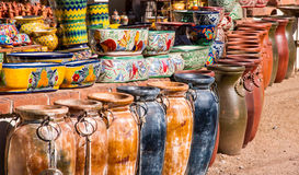 Colorful Mexican Pottery Stock Photos