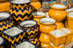 Colorful Mexican Pottery Royalty Free Stock Image