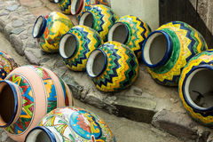 Colorful Mexican Pottery Stock Image