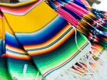 Colorful Mexican  serapes Stock Image
