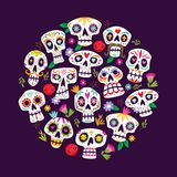 Dia de muertos card decoration vector illustration