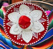 Colorful Mexican sombrero souvenirs Royalty Free Stock Image