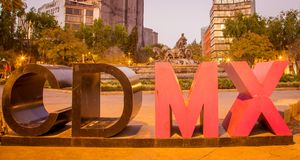 Colorful  mexico city sign Royalty Free Stock Images