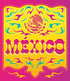 Colorful Mexico sign - mexican poster Stock Photo