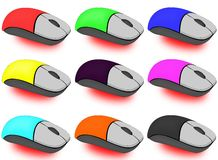 Colorful mice Stock Photo