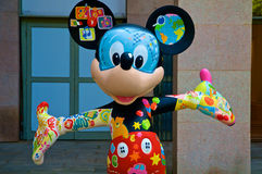 A colorful Mickey Mouse royalty free stock photography