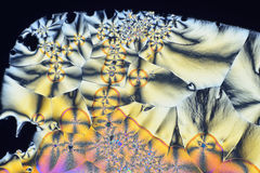 Colorful micro crystals in polarized light Stock Photos
