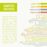 Colorful microchip background. Stock Images