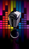 Colorful microphone Stock Image