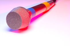 Colorful microphone Stock Photos