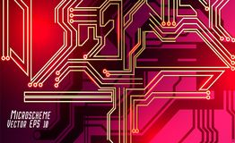 Colorful microscheme design. Vector micro chip. Micro scheme elements design. Abstract technology, IT thematic background. Circuit Board Vector Illustration royalty free illustration