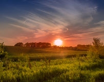Colorful Midwest Sunset Stock Images