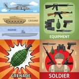 Colorful Military Square Concept Royalty Free Stock Image