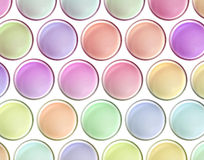 Colorful milk vibrant top view on white background, concepts Royalty Free Stock Photography