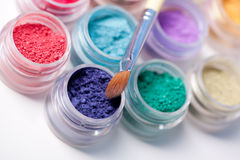 Colorful mineral eyeshadows Royalty Free Stock Photography