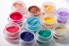 Colorful mineral eyeshadows Royalty Free Stock Photo