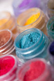 Colorful mineral eyeshadows Royalty Free Stock Photo