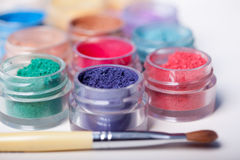 Colorful mineral eyeshadows Royalty Free Stock Image