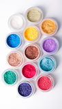 Colorful mineral eyeshadows Royalty Free Stock Images
