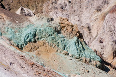 Colorful mineral rock deposits Royalty Free Stock Photos