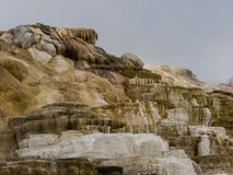 Colorful minerals at Mammoth Hot Springs Royalty Free Stock Image