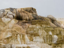 Colorful minerals at Mammoth Hot Springs Stock Photo
