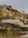 Colorful minerals at Mammoth Hot Springs Stock Photos