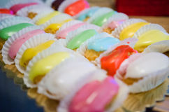 Colorful Mini Eclairs Royalty Free Stock Photo