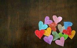 Colorful mini hearts Stock Photos