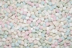 Fluffy marshmallows texture and pattern stock image