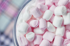 Colorful mini marshmallows Royalty Free Stock Photography
