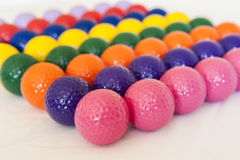 Colorful Miniature Golf Balls Royalty Free Stock Photos