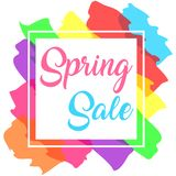 Colorful minimalist spring sale banner Stock Photos