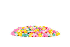 Colorful Mint Candies with White Background Royalty Free Stock Image