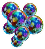 Colorful mirror disco balls Stock Photography