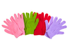 Colorful mittens Royalty Free Stock Photo