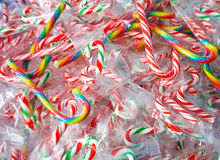 Colorful mix candy canes Royalty Free Stock Images