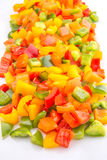 Colorful Mix Chopped Bell Pepper IV Stock Image