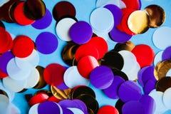 Colorful mix circular confetti festive abstract Royalty Free Stock Photos