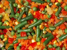 Colorful mix of cooked vegetable Royalty Free Stock Photos